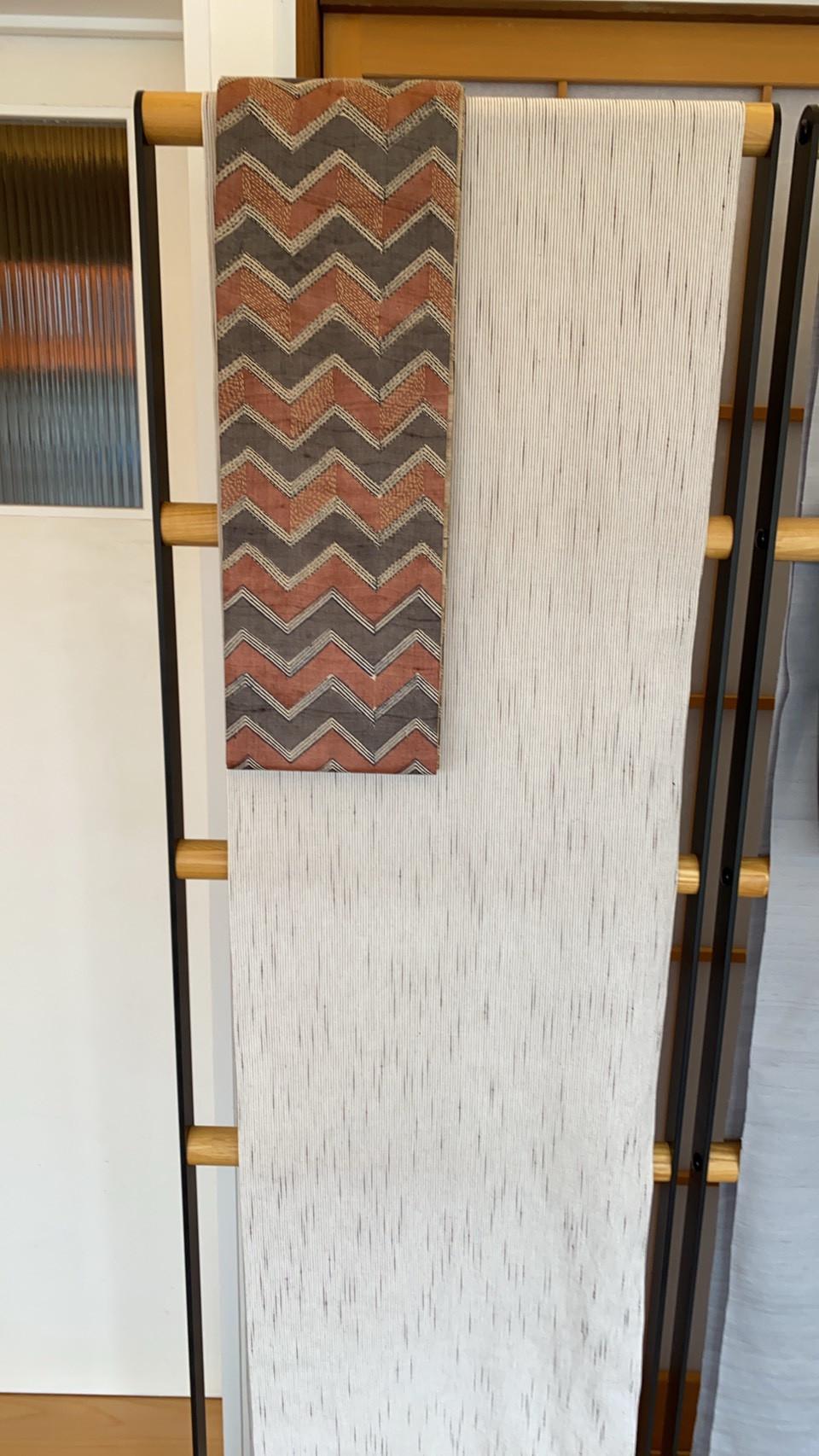 木綿のきものに半幅帯画像
